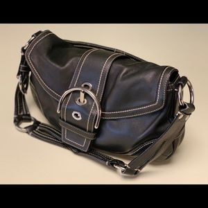 COACH Vintage Black Mini Sonoma Ergo Bag, No.10578